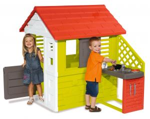 Smoby Nature Playhouse with KitchenSmoby Nature Playhouse with Kitchen-0