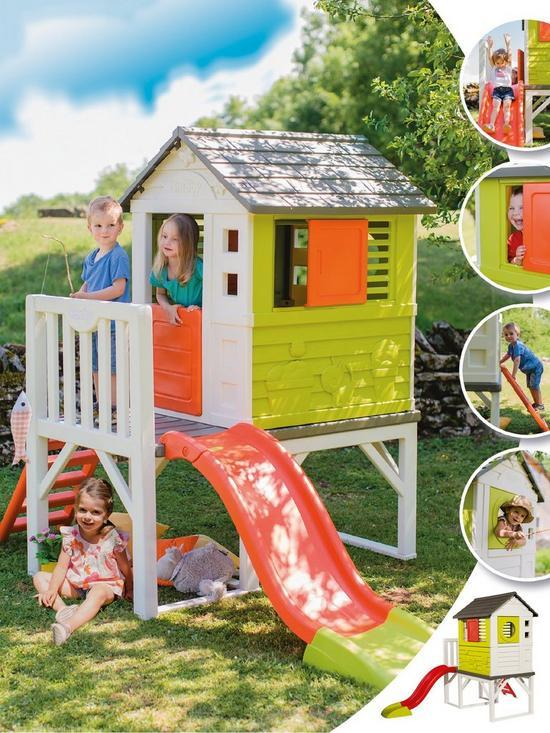 Smoby My House on Stilts with Slide-15773