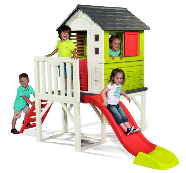 Smoby My House on Stilts with Slide-0