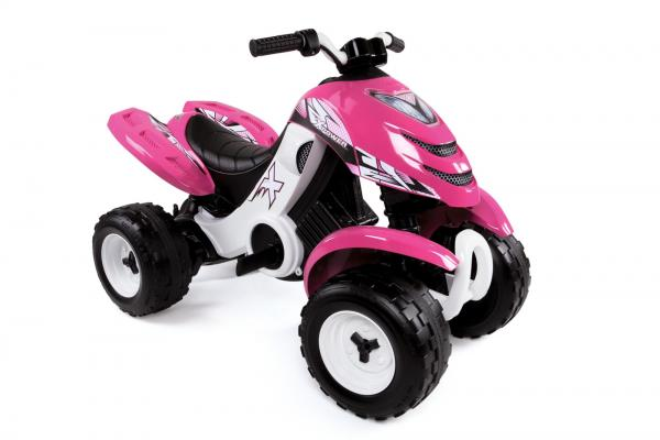 Smoby X Power 6v Electric / Battery Ride on Quad - Pink-16146