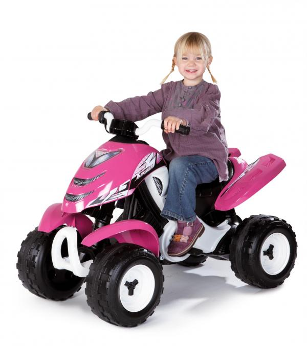 Smoby X Power 6v Electric / Battery Ride on Quad - Pink-0