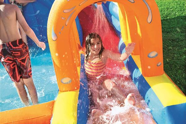 Bestway H2o Go Hurricane Tunnel Blast Inflatable Bouncy Castle 13.9ft Water Park -16096