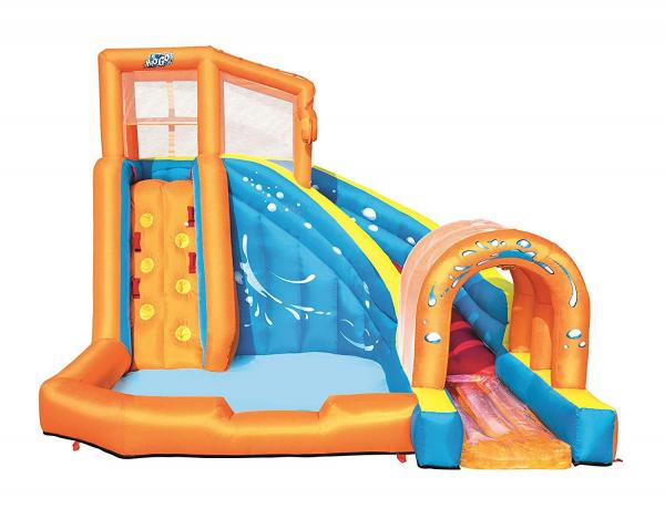 Bestway H2o Go Hurricane Tunnel Blast Inflatable Bouncy Castle 13.9ft Water Park -16095