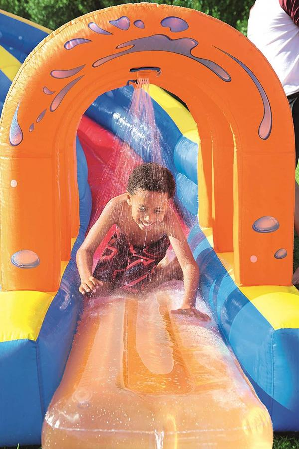 Bestway H2o Go Hurricane Tunnel Blast Inflatable Bouncy Castle 13.9ft Water Park -16099