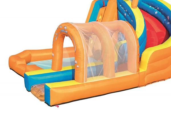 Bestway H2o Go Hurricane Tunnel Blast Inflatable Bouncy Castle 13.9ft Water Park -16098