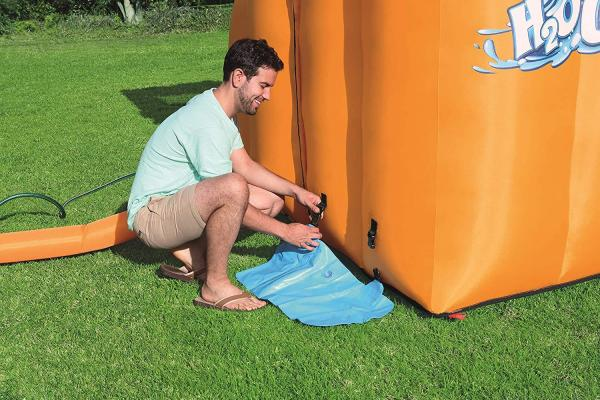 Bestway H2o Go Hurricane Tunnel Blast Inflatable Bouncy Castle 13.9ft Water Park -16102