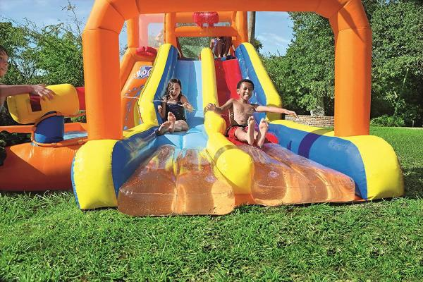 Bestway H2o Go Tsunami Inflatable Bouncy Castle 16ft Water Park -16074