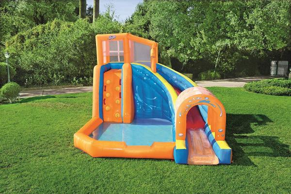 Bestway H2o Go Hurricane Tunnel Blast Inflatable Bouncy Castle 13.9ft Water Park -16097