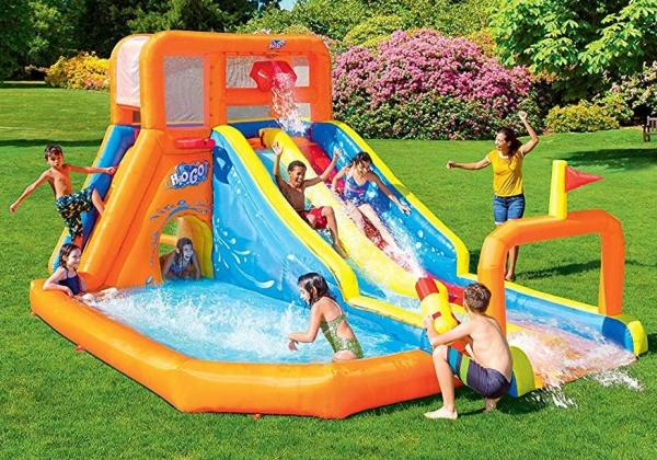 Bestway H2o Go Tsunami Inflatable Bouncy Castle 16ft Water Park -0