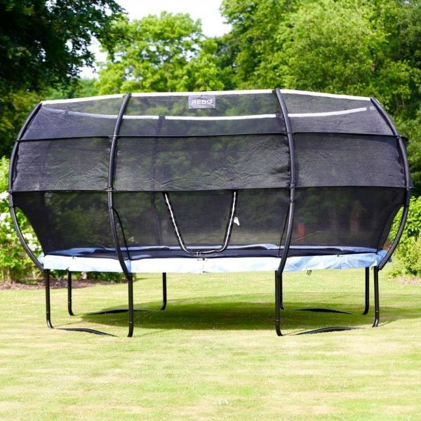 Rebo Gravity Pod 14ft Trampoline with Halo III Safety Enclosure-16227