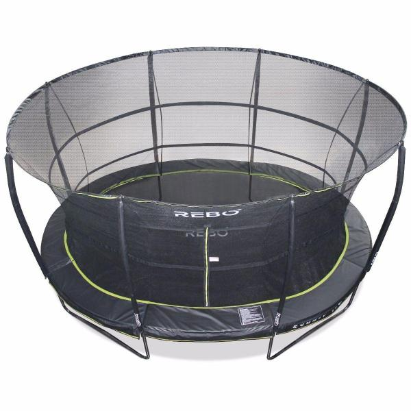 Rebo Summit 12 x 16ft Oval Trampoline and Safety Enclosure - Summit 1600-16181