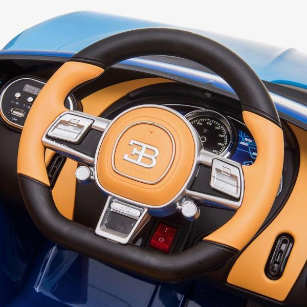 Licensed Bugatti Chiron 12V Ride On Electric / Children's Battery Ride on Car - Blue-16315