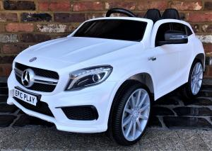 Licensed Mercedes Benz AMG GLA 45 12V Battery Electric Ride on Car with Remote Control - WhiteLicensed Mercedes Benz AMG GLA 45 12V Battery Electric Ride on Car with Remote Control - White