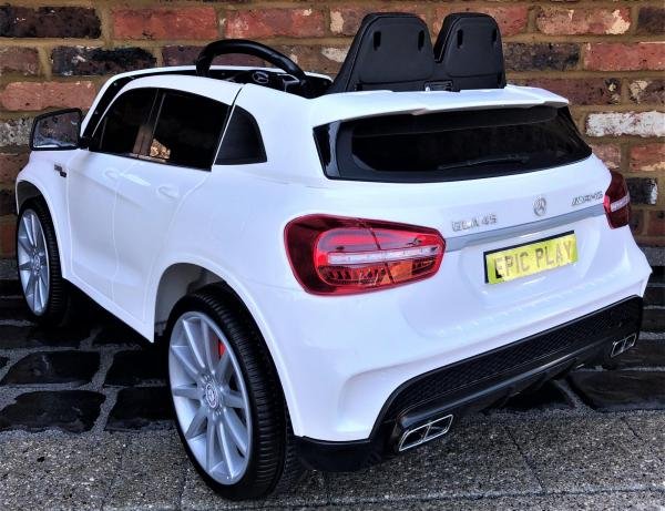 Licensed Mercedes Benz AMG GLA 45 12V Battery Electric Ride on Car with Remote Control - White