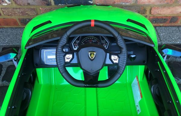 Kids Licensed Lamborghini Aventador SV Roadster 12V Battery Electric Ride on Car with Remote Control - Green-16544