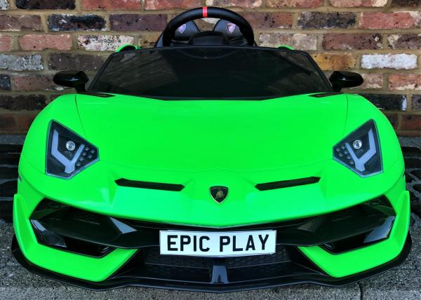 Kids Licensed Lamborghini Aventador SV Roadster 12V Battery Electric Ride on Car with Remote Control - Green-16543