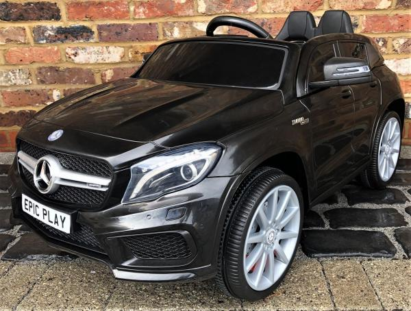 Licensed Mercedes Benz AMG GLA 12V Battery Electric Ride on Car with Remote Control - Black-0