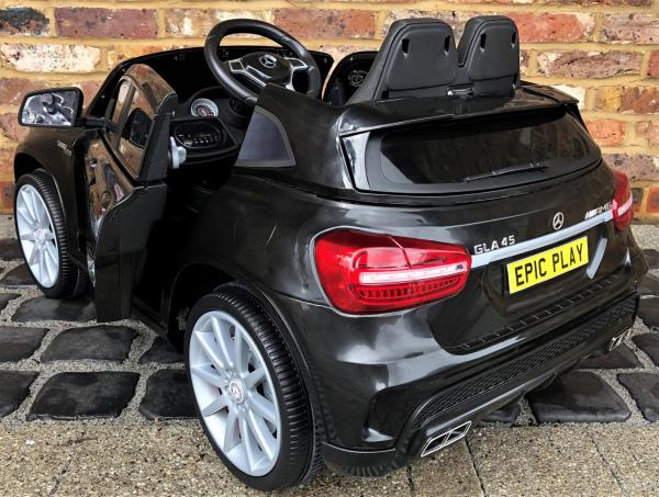 Licensed Mercedes Benz AMG GLA 12V Battery Electric Ride on Car with Remote Control - Black-16618