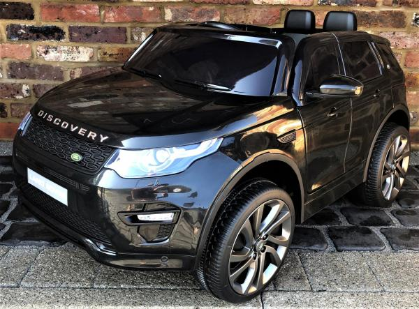 Licensed Kids Land Rover Range Rover Discovery HSE Sport 12v Electric Ride on Car in Black