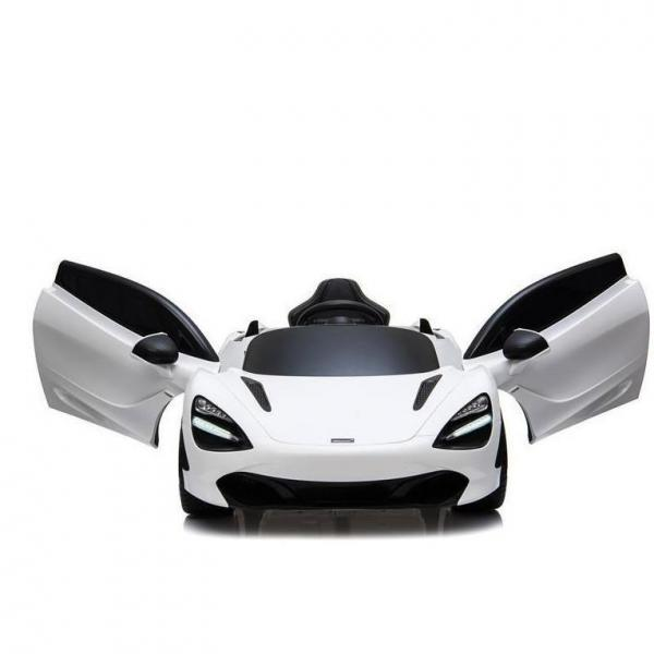 Kids Licensed McLaren 720S Spider 12V Battery Powered Kids Electric Ride On Car Solica White-16747