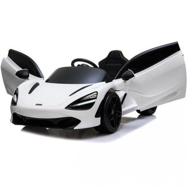 Kids Licensed McLaren 720S Spider 12V Battery Powered Kids Electric Ride On Car Solica White-16752