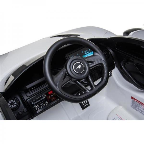 Kids Licensed McLaren 720S Spider 12V Battery Powered Kids Electric Ride On Car Solica White-16744