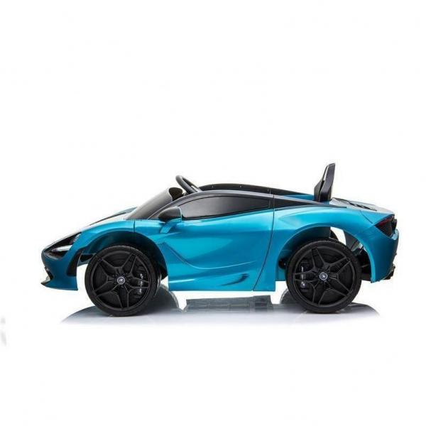Kids Licensed McLaren 720S Spider 12V Battery Powered Kids Electric Ride On Car Metallic Belize Blue-16726