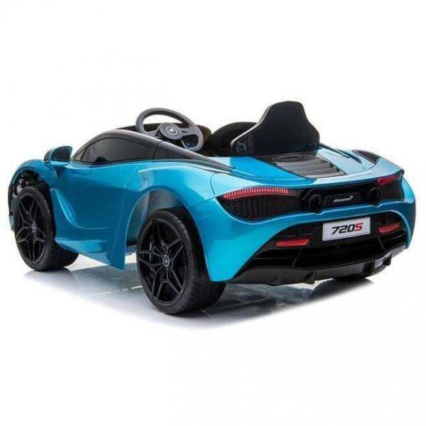 Kids Licensed McLaren 720S Spider 12V Battery Powered Kids Electric Ride On Car Metallic Belize Blue-16727