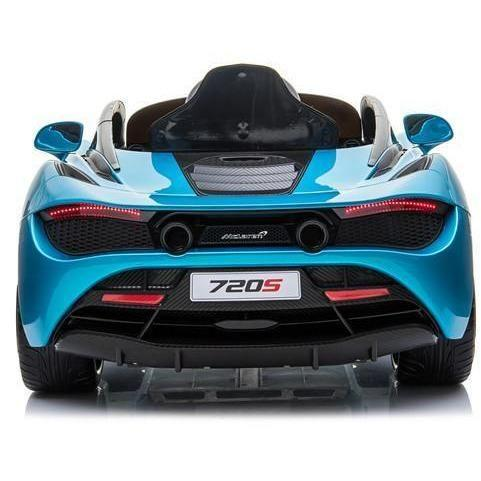 Kids Licensed McLaren 720S Spider 12V Battery Powered Kids Electric Ride On Car Metallic Belize Blue-16730