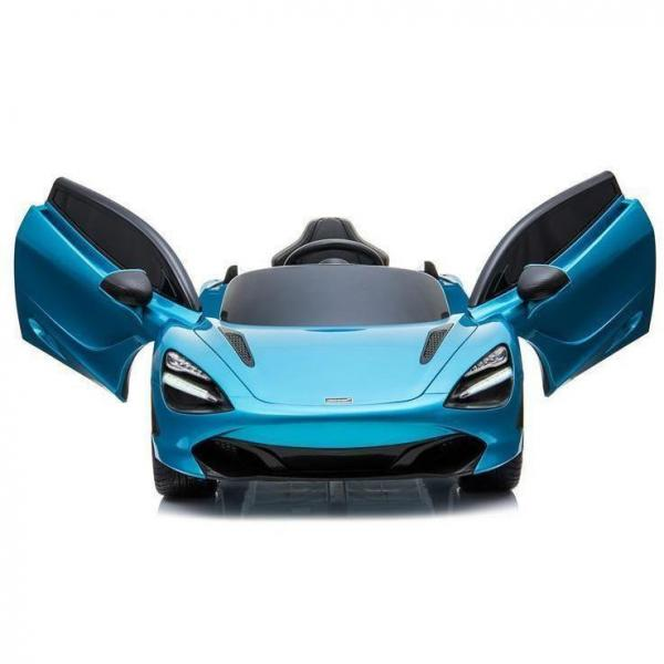 Kids Licensed McLaren 720S Spider 12V Battery Powered Kids Electric Ride On Car Metallic Belize Blue-16724