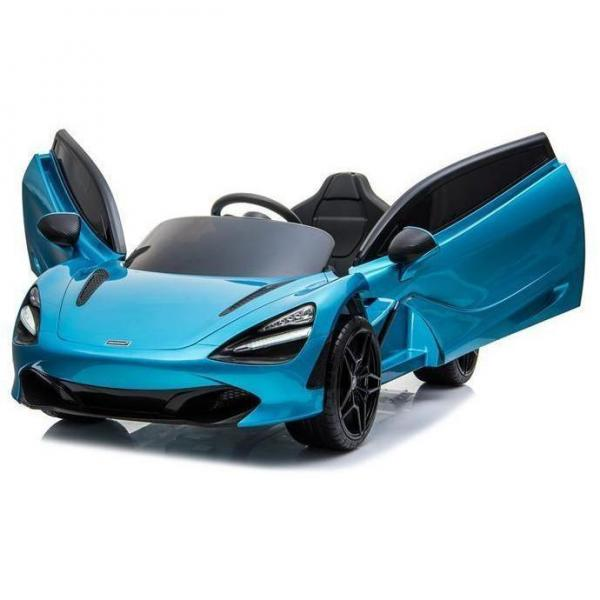 Kids Licensed McLaren 720S Spider 12V Battery Powered Kids Electric Ride On Car Metallic Belize Blue-16728