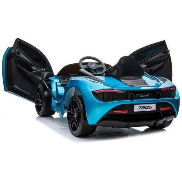 Kids Licensed McLaren 720S Spider 12V Battery Powered Kids Electric Ride On Car Metallic Belize Blue-16732