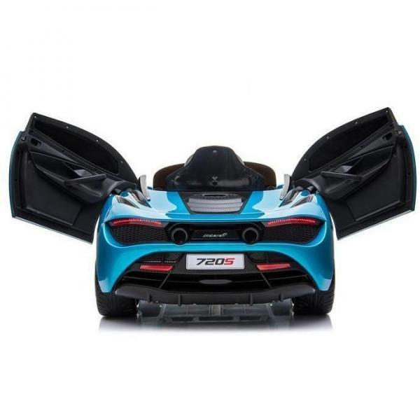Kids Licensed McLaren 720S Spider 12V Battery Powered Kids Electric Ride On Car Metallic Belize Blue-16725