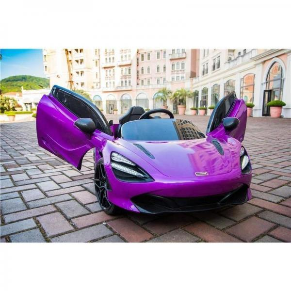 Kids Licensed McLaren 720S Spider 12V Battery Powered Kids Electric Ride On Car Metallic Lantana Purple-16719