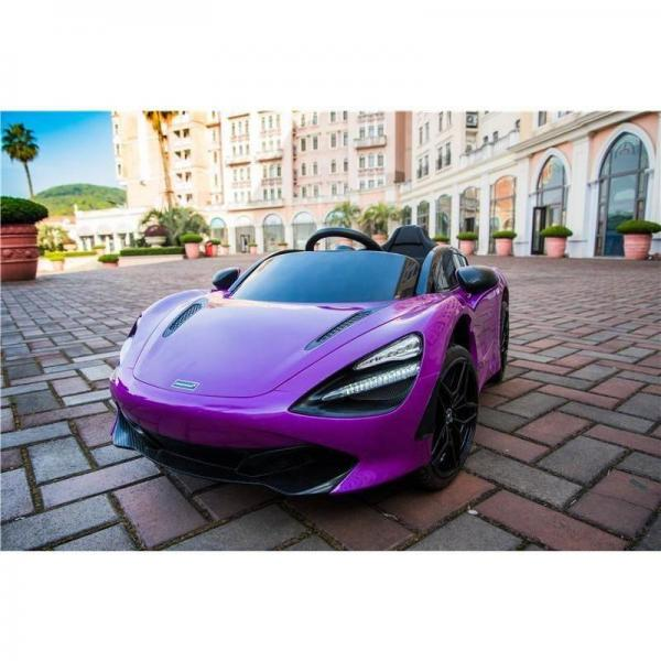 Kids Licensed McLaren 720S Spider 12V Battery Powered Kids Electric Ride On Car Metallic Lantana Purple-16718