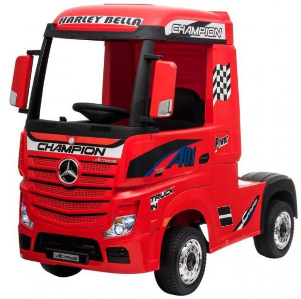 Licensed Mercedes Benz Actros 12v Ride On Lorry Artic Truck - Red-17362