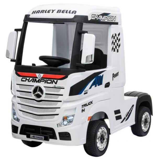 Licensed Mercedes Benz Actros 12v Ride On Lorry Artic Truck - White-17364