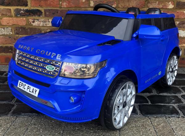 4x4 Range Rover Vogue Sport style Off Roader 12v Electric Battery Ride on Jeep - Blue-0