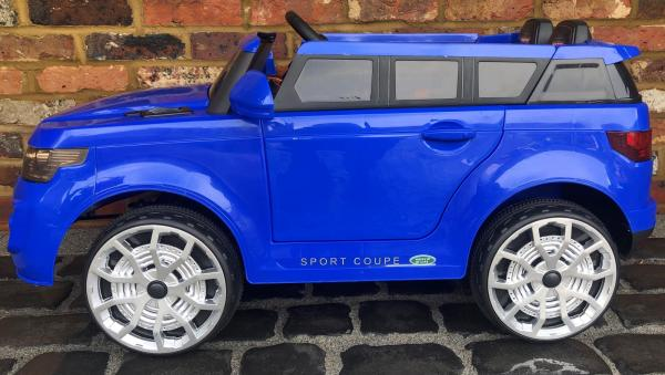 4x4 Range Rover Vogue Sport style Off Roader 12v Electric Battery Ride on Jeep - Blue-16808