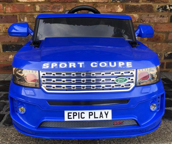 4x4 Range Rover Vogue Sport style Off Roader 12v Electric Battery Ride on Jeep - Blue-16811