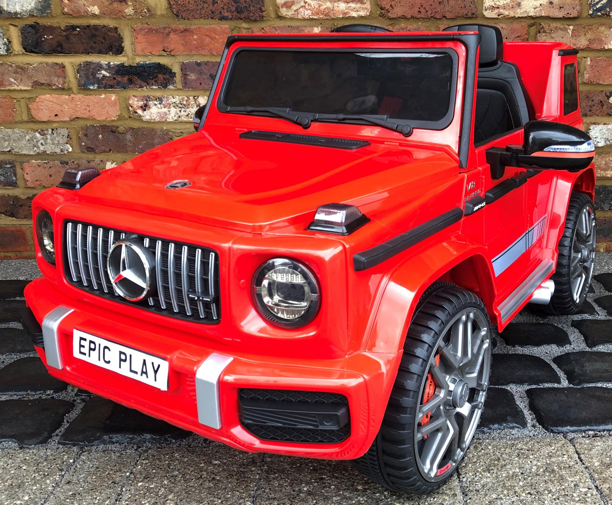 Licensed Mercedes Benz Amg G63 G Wagon 12v Ride On Jeep In Red