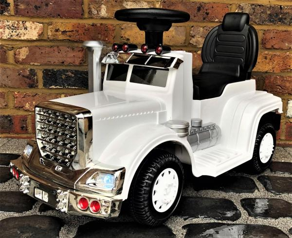 The Big Rig 6v Ride On Lorry Artic Truck - White-0