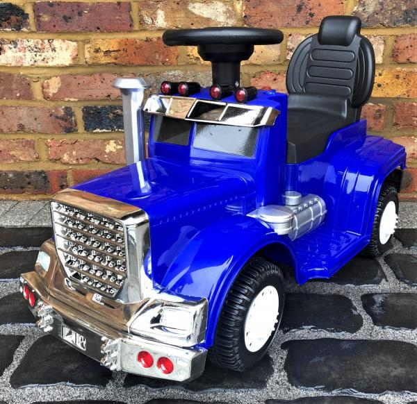 The Big Rig 6v Ride On Lorry Artic Truck - Blue-0