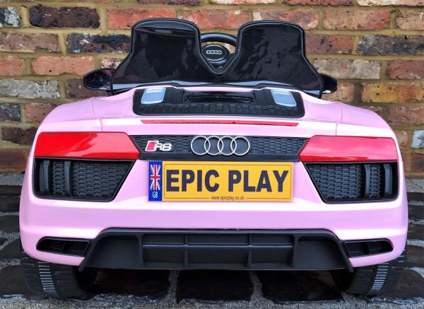 Kids Licensed Audi R8 Spyder 12V Battery Electric Ride on Car - Pink -17158