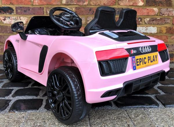 Kids Licensed Audi R8 Spyder 12V Battery Electric Ride on Car - Pink -17156