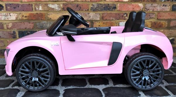 Kids Licensed Audi R8 Spyder 12V Battery Electric Ride on Car - Pink -17154