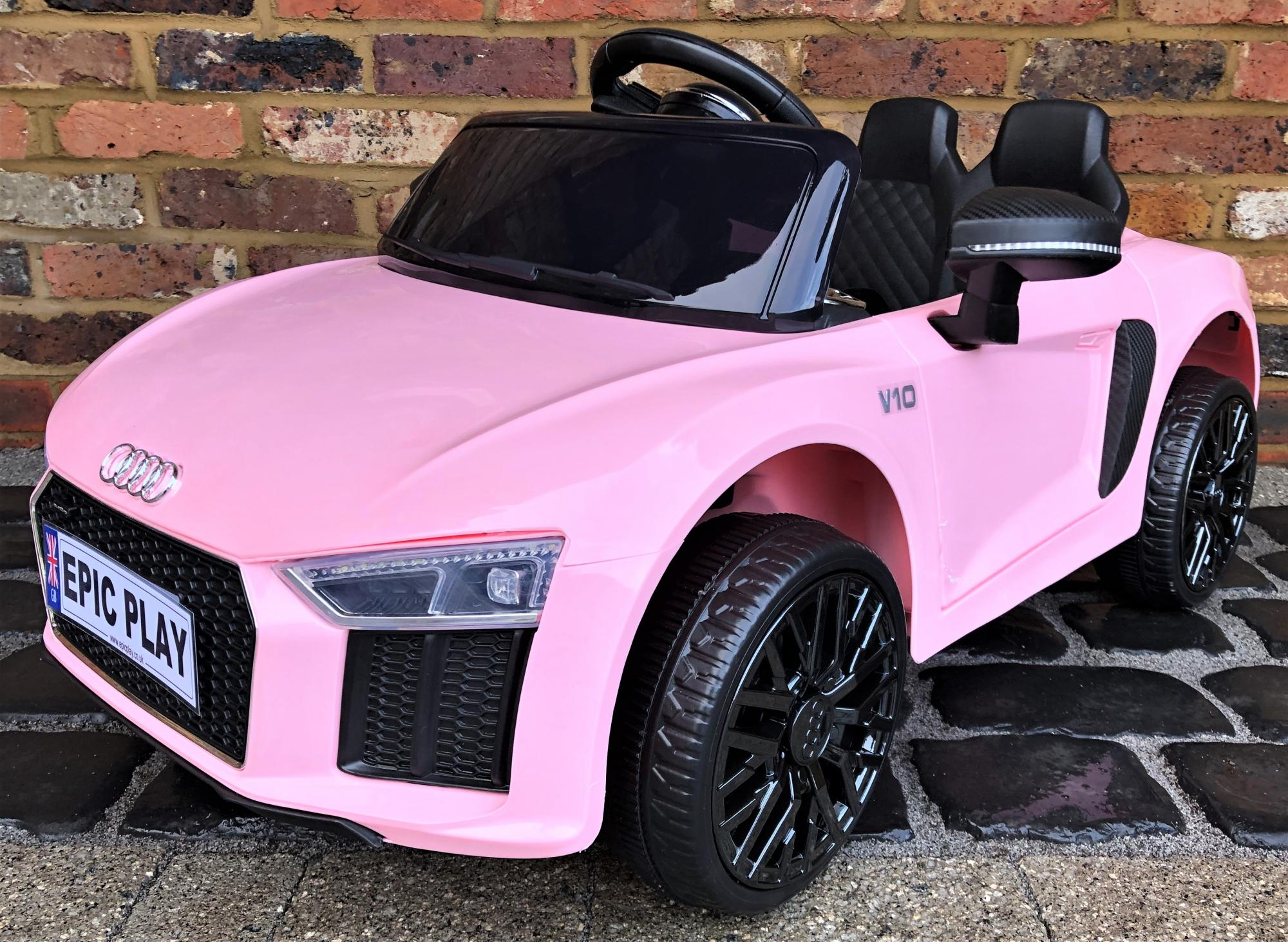 Kids Licensed Audi R8 Spyder 12v Battery Electric Ride On Car Pink