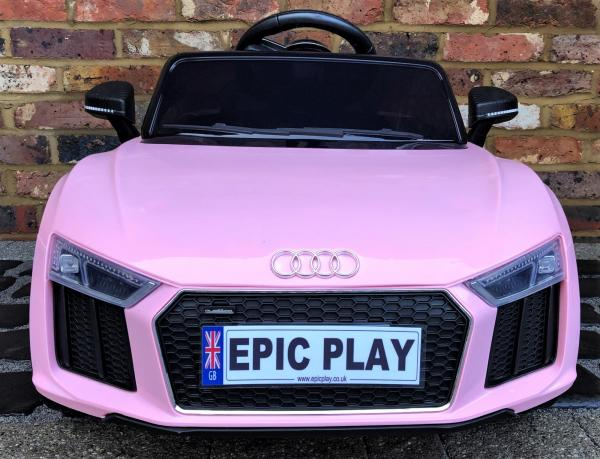 Kids Licensed Audi R8 Spyder 12V Battery Electric Ride on Car - Pink -17157