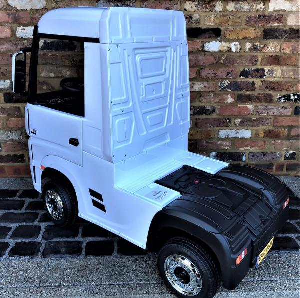 Licensed Mercedes Benz Actros 12v Ride On Lorry Artic Truck - White-17357