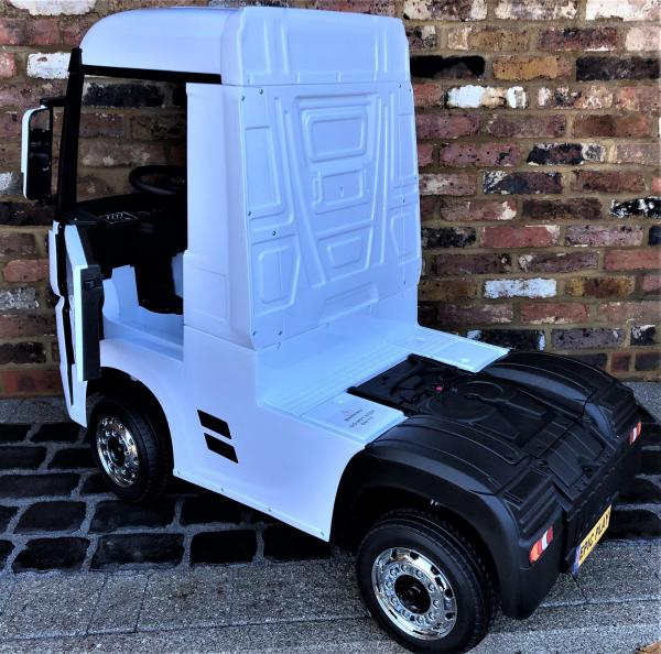 Licensed Mercedes Benz Actros 12v Ride On Lorry Artic Truck - White-17353